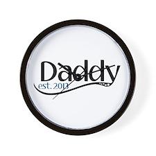 New Daddy Est 2013 Wall Clock