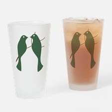 Turtle Doves Drinking Glass