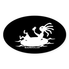 Kokopelli Tuber Oval Decal