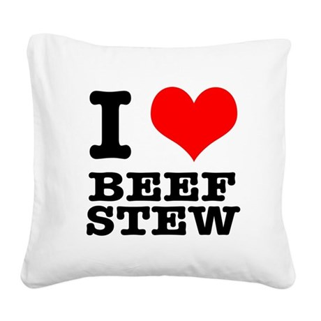 BEEF STEW.png Square Canvas Pillow
