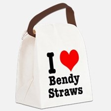 bendy straws.png Canvas Lunch Bag