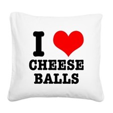 CHEESE BALLS.png Square Canvas Pillow