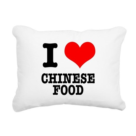 CHINESE FOOD.png Rectangular Canvas Pillow