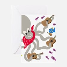 Otto Loves His Four Ukeleles Greeting Cards