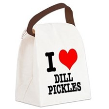 DILL PICKLES.png Canvas Lunch Bag