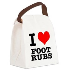 FOOT RUBS.png Canvas Lunch Bag