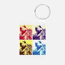 Dinosaur T-Rex Pop Art Keychains