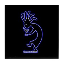 Kokopelli Martini Drinker Tile Coaster