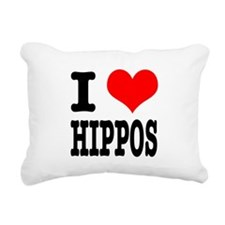 HIPPOS.png Rectangular Canvas Pillow