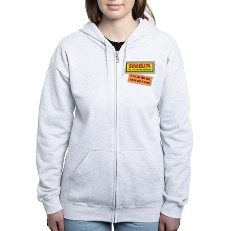 Fake Sincerity-George Burns/t-shirt Women's Zip Ho