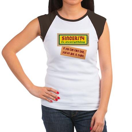 Fake Sincerity-George Burns/t-shirt Women's Cap Sl