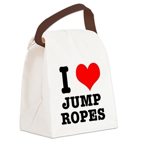 jump ropes.png Canvas Lunch Bag