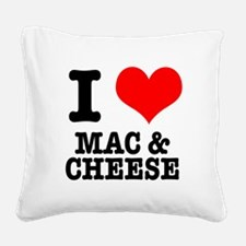 MAC CHEESE.png Square Canvas Pillow