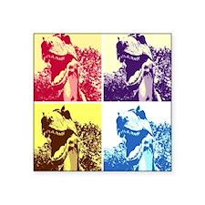 "Dinosaur T-Rex Pop Art Square Sticker 3"" x 3"""