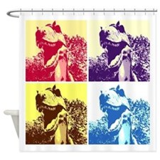 Dinosaur T-Rex Pop Art Shower Curtain