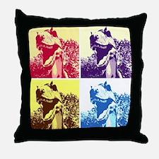 Dinosaur T-Rex Pop Art Throw Pillow