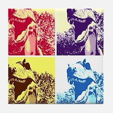 Dinosaur T-Rex Pop Art Tile Coaster