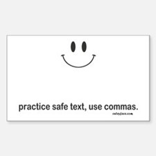 practice safe text Decal