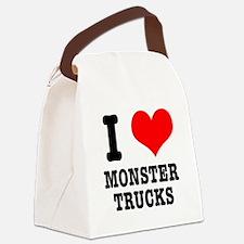 monster trucks.png Canvas Lunch Bag