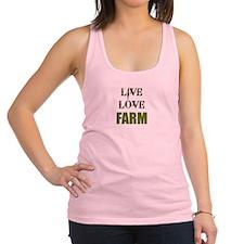 LIVE LOVE FARM (only) Racerback Tank Top