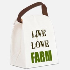 LIVE LOVE FARM (only) Canvas Lunch Bag