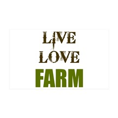 LIVE LOVE FARM (only) Wall Decal