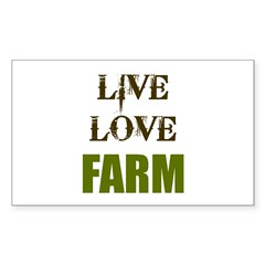 LIVE LOVE FARM (only) Decal