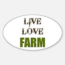 LIVE LOVE FARM (only) Sticker (Oval)