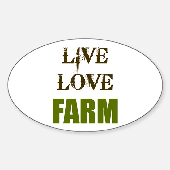 LIVE LOVE FARM (only) Sticker (Oval)