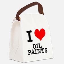 OIL PAINTS.png Canvas Lunch Bag