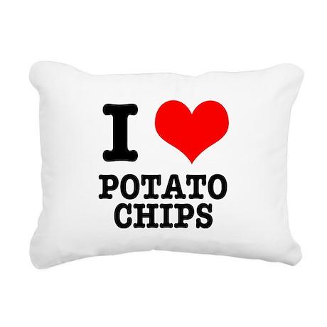 POTATO CHIPS.png Rectangular Canvas Pillow