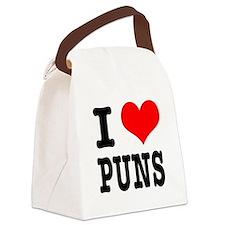 PUNS.png Canvas Lunch Bag