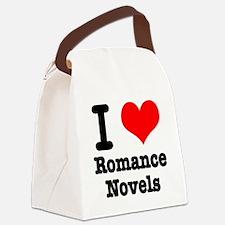 I Heart (Love) Romance Novels Canvas Lunch Bag