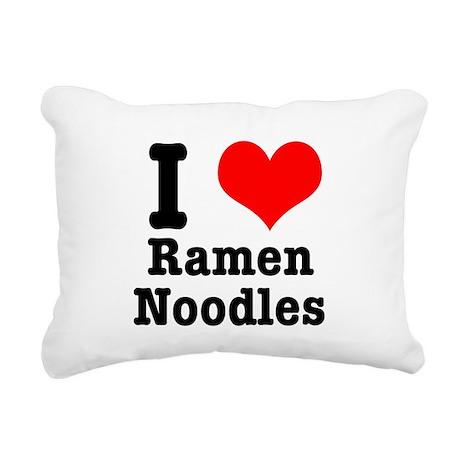 ramen noodles.png Rectangular Canvas Pillow