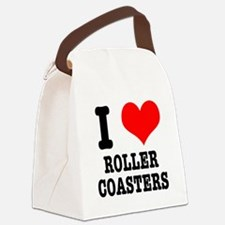 roller coasters.png Canvas Lunch Bag