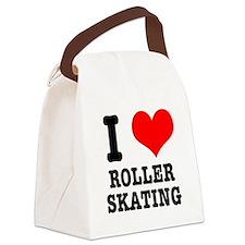 i heart roller skating.png Canvas Lunch Bag