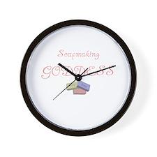 Soapmaking Goddess Wall Clock