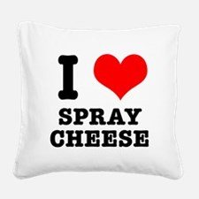 spray cheese.png Square Canvas Pillow