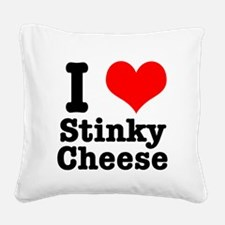 stinky cheese.png Square Canvas Pillow