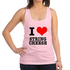 STRING CHEESE.png Racerback Tank Top