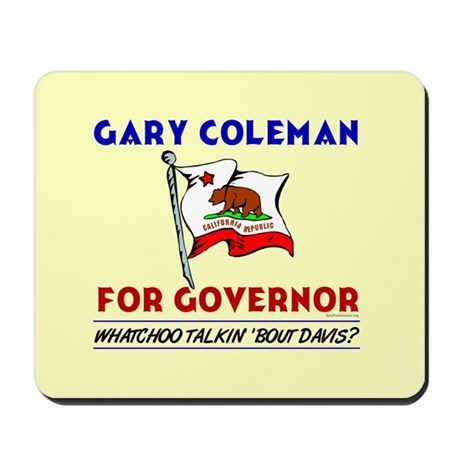 Vote Gary Coleman Governor Mousepad