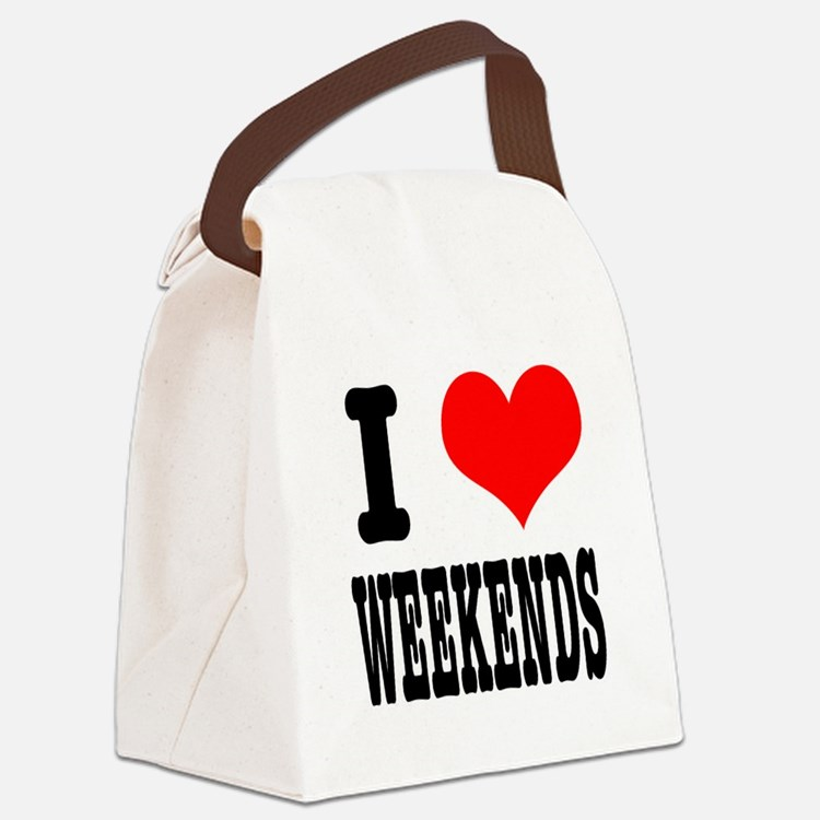 WEEKENDS.png Canvas Lunch Bag