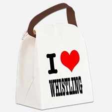 WHISTLING.png Canvas Lunch Bag