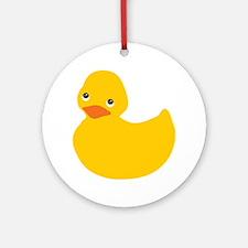 Yellow Duckie Ornament (Round)