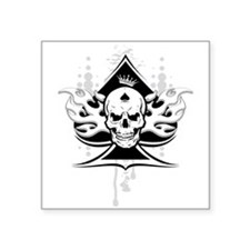 "ace of spades skull Square Sticker 3"" x 3"""