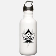 ace of spades skull Sports Water Bottle