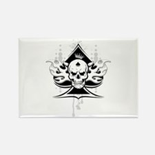 ace of spades skull Rectangle Magnet
