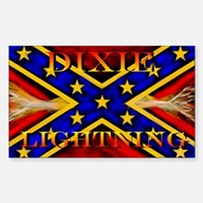 OFFICIAL DIXIE LIGHTNING Rectangle Decal