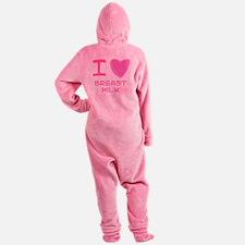 breast milk girl.png Footed Pajamas