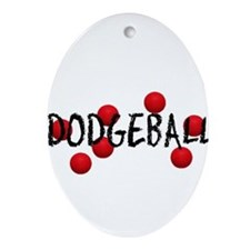 DODGEBALL2.jpg Ornament (Oval)